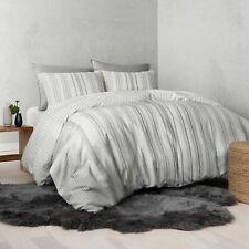 UGG® Nomad Tencel® Lyocell Striped Reversible King Duvet Cover in Seal Gray