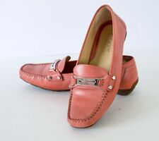 Geox Respira Women's Coral Leather Driving Loafers Size 39, 8.5