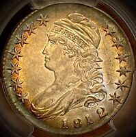1812/1 cap bust half dollar pcgs au55