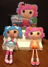 """LALALOOPSY  DOLLS 12"""" MITTENS FLUFF N STUFF AND BERRIES JAR N JAM + NEW OUTFIT"""