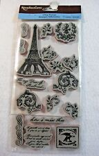 Set of 17 French Eiffel Tower by Recollections Cling Stamps