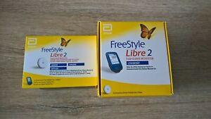 FreeStyle Libre2 Starter Kit Pack mg/dl used Reader+1Sensor WORLDWIDE SHIPPING