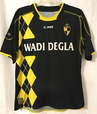 K. Lierse S.K. Black Yellow Soccer Jako Jersey Large Belgium Wadi Degla BLANK