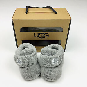 Ugg Bixbee Gray Infant Bootie Boots Shoes Size 0/1 XS 0-6 Months Boy / Girl