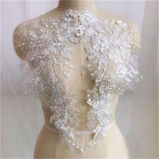 1Pair DIY Lace Appliques Trim Embroidery Sewing Wedding Bridal Elegant Crafts
