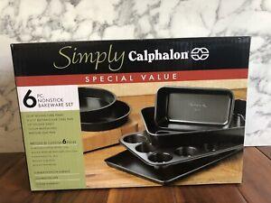 Calphalon Nonstick Bakeware Set 6 Piece Bakeware Set Nonstick Baking New