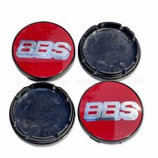 4x Genuine BBS Centre Caps, Red with Silver BBS Logo 56mm - Nürburgring Edition