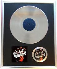 "Judas Priest British St gerahmte CD Cover +12"" Vinyl goldene/platin Schallplatte"