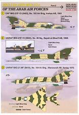 Print Scale Decals 1/48 MIKOYAN MiG-19 & MIKOYAN MiG-21 ARAB AIR FORCES Part 2