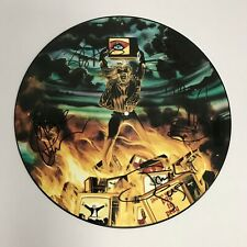 "Iron Maiden Holy Smoke 12"" Signed Picture Disc Vinyl Bruce Dickinson"