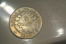 NAPOLEON 5 FRANCS 1814 Q = PERPIGNAN