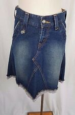 Levis Slouch 504 Lace Denim Blue Jean Distressed Faded Skirt Womens Juniors 5