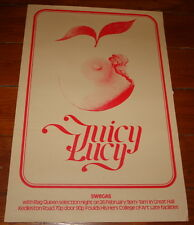 """JUICY LUCY ~ RARE CONCERT POSTER ~ DERBY GREAT HALL 26 FEBRUARY 1972 ~ 20"""" x 30"""""""