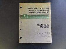John Deere JS60,JS61, and JS63 21-Inch Walk-Behind Mowers (Steel Deck) Technical