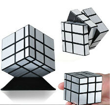 3x3x3 Shengshou Magic Mirror Cube Silver Ultra-smooth Puzzle Professional Twist