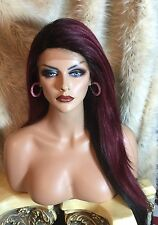 Thick LACE FRONT, Burgandy Red With Black Undercoat Wig!