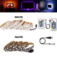 5050 RGB LED Strip Light Bar 5V  TV Background Lighting Kit + USB Remote Control