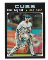 2020 Topps heritage baseball #291 Kris Bryant action variation Chicago cubs