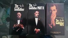 THE GODFATHER Parts 1, II, III 1990  6 VHS Tapes Total Black box version