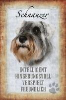 Schnauzer Hund Dog Blechschild Schild gewölbt Metal Tin Sign 20 x 30 cm