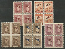 1934 TURKEY  1st AIR MAIL FLIGHT AVIATION ISSUE COMPLETE SETBL.OF 4 MNH****  LUX