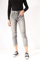 Vintage Levi's Cropped Skinny Jeans Grey (W30 L24)