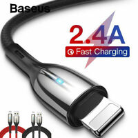 Baseus Lightning Cable Fast Charging Charger Cord iPhone 11 Pro Max XR XS 8 Plus