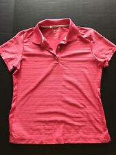 Adidas Women's Climacool Golf Shirt Polo Size Small Red  #1041
