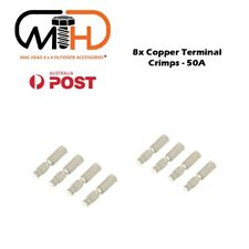 8x 50Amp Copper Terminals Connector For 50a Anderson Style Plugs Contacts