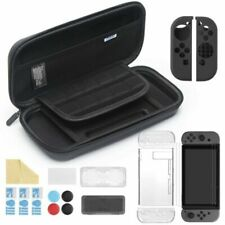 iAmer 11 en 1 Nintendo Switch Accessoires Nintendo Switch Housse + Protection Transparente + 3 Protection Écran + Protection en Silicone pour Joy-Con + Thumb Grip + 2 Boitier pour Carte de Jeux