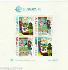PORTUGAL EUROPA CEPT (1981) S / S   MNH
