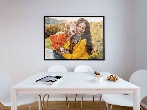 Personalised Digital Art Print - Home Decor - Mosaic Style - Wall Art Photo