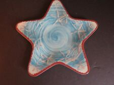 "Coastal Collection STAR 8"" serving dish plate blue melamine marine (F5)"