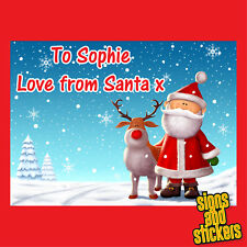 40 Personalised Christmas Stickers tags gift xmas parcels presents santa labels