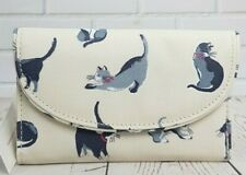 Cath Kidston Folded Curved Wallet  Painted Cats Design Cream Colour New with Tag