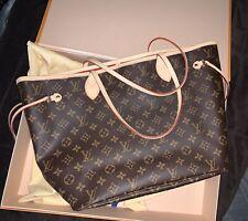Louis Vuitton Neverfull MM Monogram Cerise, Authentic (CA2189)