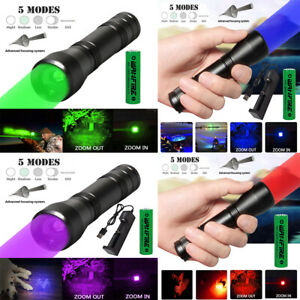 10w HIGH POWER MILATRY TACTICAL TORCH FLASHLIGHT 3000LM ZOOM 5MODES NIGHT VISION