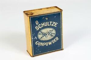 """Vintage ~ """"Schultze Gunpowder"""" Tin      #2203"""