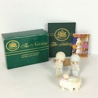 Precious Moments 3 piece Nativity Set 1982 Come Let Us Adore Him Enesco 142743