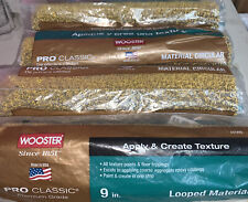 """Wooster Pro Classic Looped Texture Paint Roller 9"""" Lot Of 4 Premium Professional"""