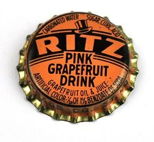 Vintage Ritz Pink Grapefruit soda tapita estados unidos 1940er bottle caps Orange
