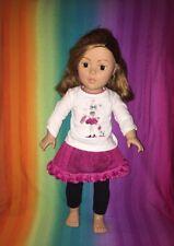 "2009 Madame Alexander 18"" Doll---Red Orange Short Hair & Pink Black Outfit Skirt"