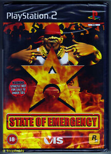 PS2 State of Emergency ( 2002 ) UK Pal, Brand New & Sony Factory Sealed