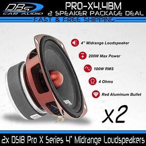 2x DS18 PRO-X4.4BM 4″ Midrange Car Speakers 200 Watt 4 ohm Bullet Loudspeakers