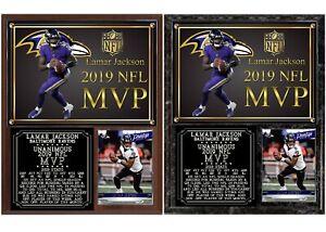 Lamar Jackson 2019 NFL MVP Photo Card Plaque