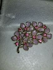 Beautiful Sarah Coventry Floral Dusty Pink Brooch