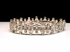 Crystal Tennis Bracelet Silver Toned Glass
