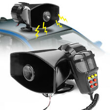 12V 7 Sound Tone Car Boat Warning Alarm Police Siren Air Horn Speaker MIC System