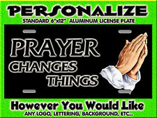 Praying Hands Christian  background PERSONALIZED FREE Monogrammed License Plate