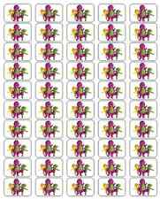 """50 Barney and Friends Envelope Seals / Labels / Stickers, 1"""" x 1.5"""""""